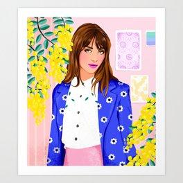 Mimosa Girl Art Print