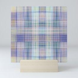 Scottish tartan pattern deconstructed Mini Art Print
