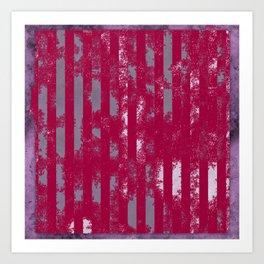 Strawberry crush pole. Art Print