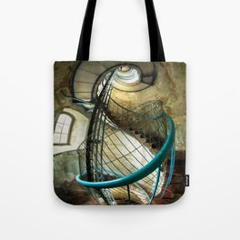 Inside the old lighthouse Tote Bag