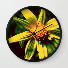 Vintage Yellow Flower Wall Clock