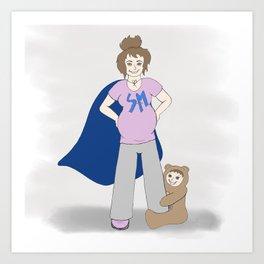 SuperMom - Apparently a Mom Art Print