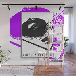 Vinyl is forever print Wall Mural