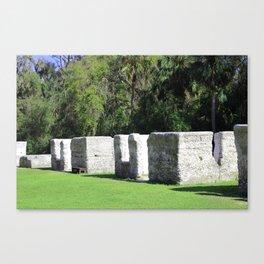 Kingsley Plantation Slave Cabins Canvas Print