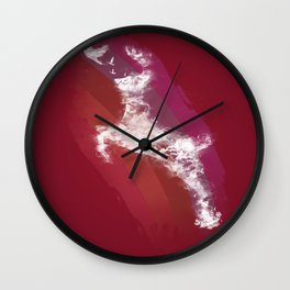 In Search Of Peace - (Maroon) Wall Clock