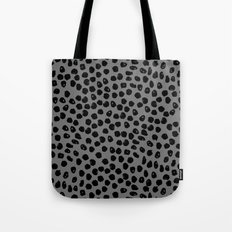 Inky Dots - Charcoal by Andrea Lauren Tote Bag