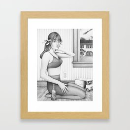 you like it....it likes you Framed Art Print