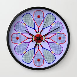 Racquetball Design Wall Clock