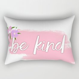 Positive quote.Be happy,think happy. Rectangular Pillow