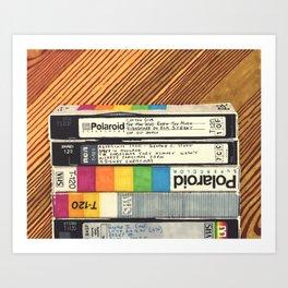 VHS & Wooden Wall Art Print
