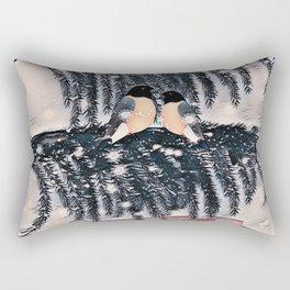 Christmas , hearts , retro Rectangular Pillow