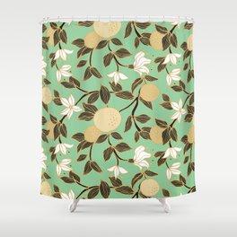 Orange garden Shower Curtain