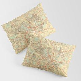 Leeds Map Retro Pillow Sham