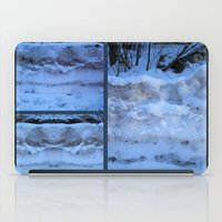 geology iPad Cases featuring The Geology of Snow by World Raven