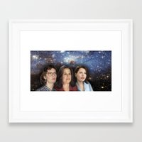 yankees Framed Art Prints featuring THE THREE GREAT LADIES by Kaitlin Smith