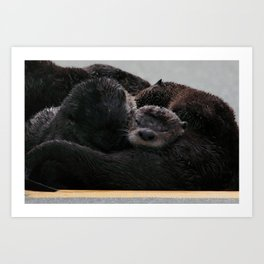 Snuggle Time Art Print