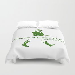 Johnnie Walter White Duvet Cover