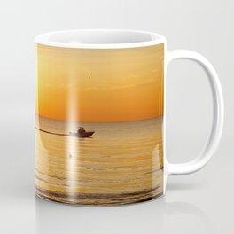 Yellow Sunset Ocean Coffee Mug