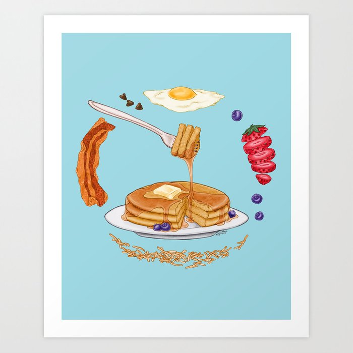 Pancake Mandala Art Print