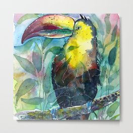 TOUCAN, watercolor illustration (nature) Metal Print
