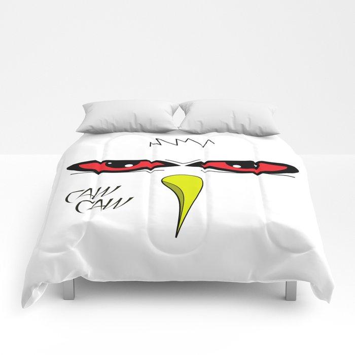 Angry White Bird Comforters