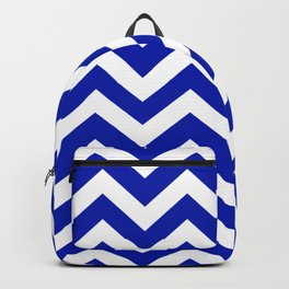 Blue (Pantone) - blue color - Zigzag Chevron Pattern Backpack