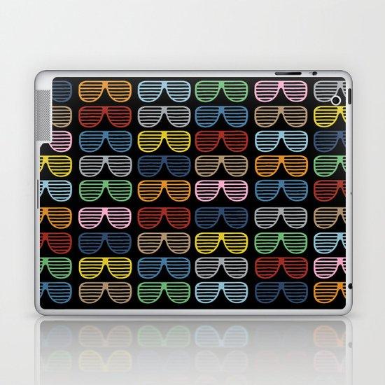 Rainbow Shutter Shades at Night Laptop & iPad Skin