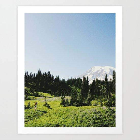 Mt Rainier Shooter Art Print
