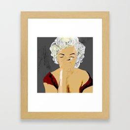 SmokingMonroe Framed Art Print