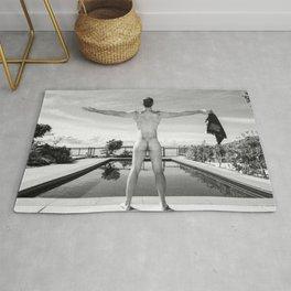 Freedom Swim Male Nude Rug