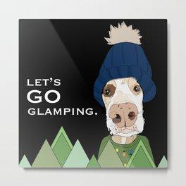Glamping Dog Metal Print