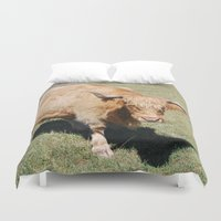bull Duvet Covers featuring Bull by Sarah Shanely Photography