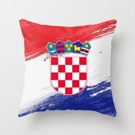 Croatia's Flag Design Throw Pillow