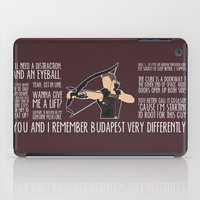 archer iPad Cases featuring The Archer by MacGuffin Designs