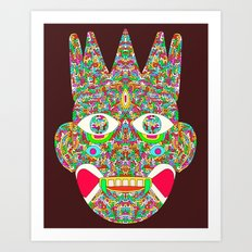 The Psychedelic Daemon Art Print