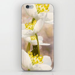 Black Cat With White Flowers #decor #buyart #society6 iPhone Skin