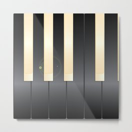 White And Black Piano Keys Metal Print