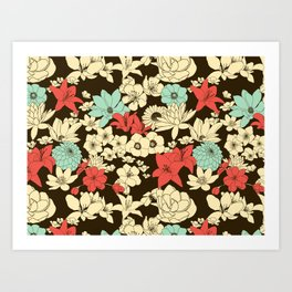 Flower Market Art Print
