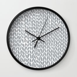 Hand Knit Zoom Grey Wall Clock