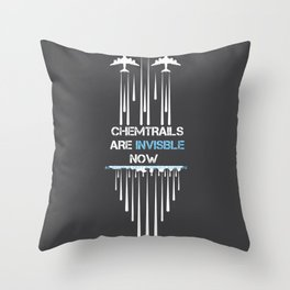 Chemtrail conspiracy theorist funny gift Throw Pillow