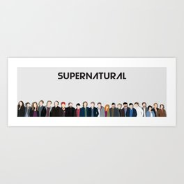 Supernatural Cast Art Print