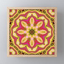 Sweet Happiness Floral Mandala Framed Mini Art Print