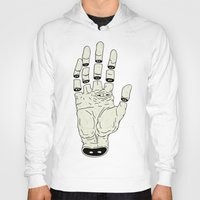 Hoodies featuring THE HAND OF ANOTHER DESTYNY by UNDEAD MISTER / MRCLV