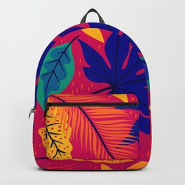 South American Tropical leaves design for fine home ornamentation. Backpack