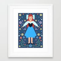ariel Framed Art Prints featuring Ariel by Carly Watts