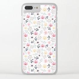 Elegant Floral Clear iPhone Case