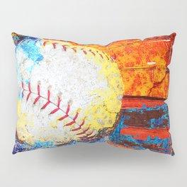 Colorful Baseball Art Pillow Sham