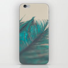 Turquoise Feather Abstract iPhone & iPod Skin
