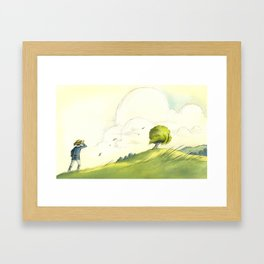 Cloudy Tree Framed Art Print