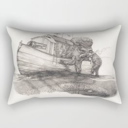 Hanging in a Houseboat Rectangular Pillow